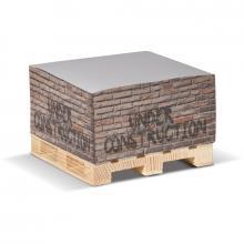 Cubo carta | Carta bianca | Pallet di legno