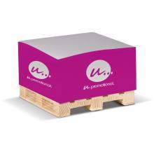 Cubo carta   Carta bianca   Pallet di legno