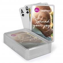 Carte da gioco   carte con logo   En scatola di plastica