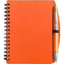 Taccuino PVC | A6 | Con penna a sfera | 8035139 Arancia