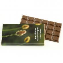Tavoletta di cioccolato belga con involucro a colori