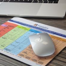 Tappetino per mouse a colori con strato superiore in poliestere   75001