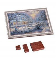 Calendari dell'avvento | Da 100 pezzi | logo su cioccolatino