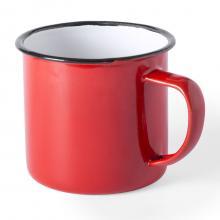 Tazza | Smaltata | Vintage design | 350 ml | 155571 Rosso
