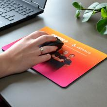 Tappetino per mouse a colori con strato superiore in poliestere | 75001