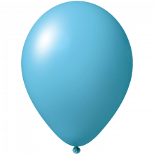 Palloncini con stampa | Ø 33 cm | Economici | Lattice organico | 9485951 Blu chiaro