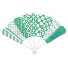 Ventaglio di carta | Manico bianco | Full color