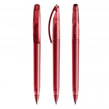 Penna a sfera | Trasparente | Refill di qualità | DS3.1TTT Rosso