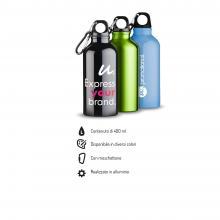 Bottiglia   Borraccia   In alluminio   Moschettone   400 ml   92100002