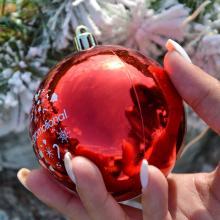 Pallina di Natale colorata   Lucido   80 mm   22001