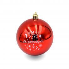 Pallina di Natale colorata   Lucido   80 mm   22001 Rosso
