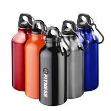 Bottiglia | Borraccia | In alluminio | Moschettone | 400 ml