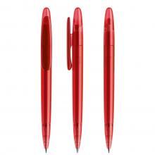 Penna a sfera | Refill di qualità | Trasparente | DS5TFF Rosso