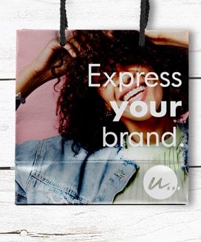 Shopper carta lusso personalizzate